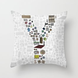 letter Y - games Throw Pillow