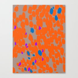 Orange Dot Canvas Print