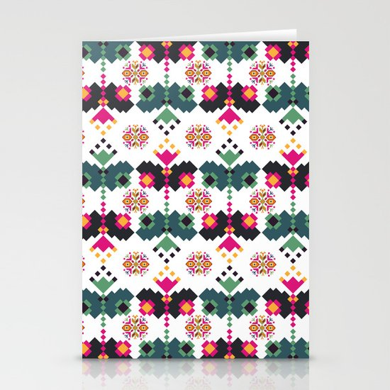 Bulgarian embroidery pattern 02 Stationery Cards