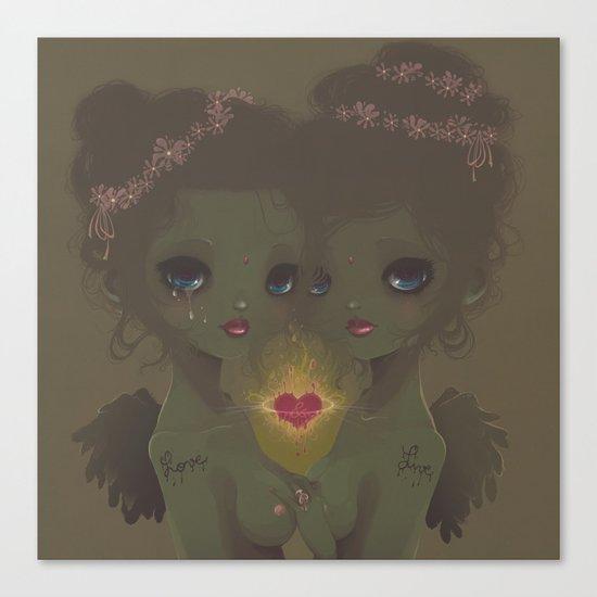 Love & Live Canvas Print