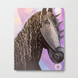 Punk Disco Pony Metal Print