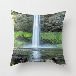 At the Foot of South Falls Throw Pillow