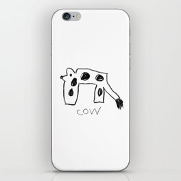 My Cow Drawing iPhone Skin