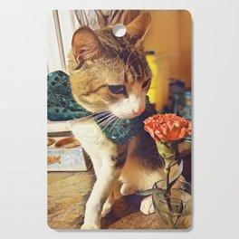 Smelling flower Cutting Board