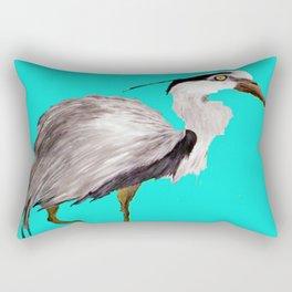 Turquoise Heron Rectangular Pillow