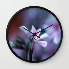 Phlox Wall Clock