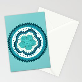 Icy Blue Radiance  Stationery Cards