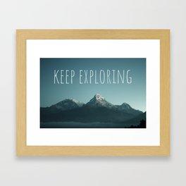 Keep Exploring - Mountain Travel Framed Art Print