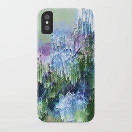 Wild Nature Glitch - Blue, Green, Ultra Violet #nature #homedecor iPhone Case