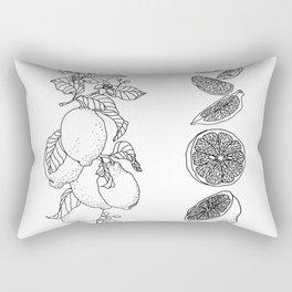 Citrus Branch of Lemons and Slices of Fruit Rectangular Pillow