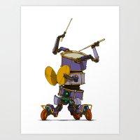 Robot-Parade-FOUR Art Print