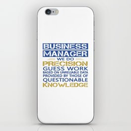 BUSINESS MANAGER iPhone Skin