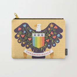 Dreaming (not Screaming) Eagle Carry-All Pouch