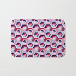 Pattern graphic cubes Bath Mat