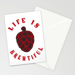 life  is beatiful- I love beer Stationery Cards