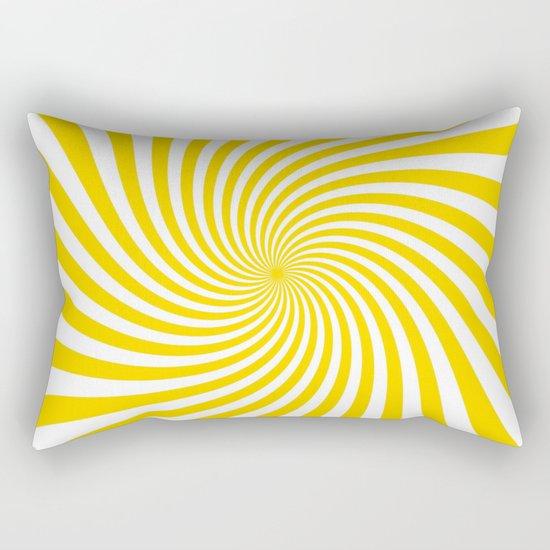 Swirl (Gold/White) Rectangular Pillow