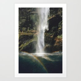 Feel the Water Fall Art Print
