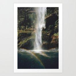 Feel the Water Fall Art Print