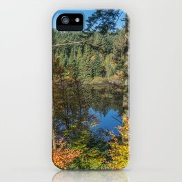 Lake in French forest iPhone Case