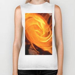 swirling flame Biker Tank