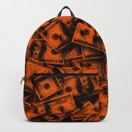Orange Grunge Money Backpack