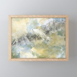 Vanishing Seagull Framed Mini Art Print