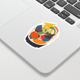Fruits in wooden bowl Sticker
