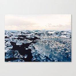 Ice Field on Diamond Beach, Iceland Canvas Print