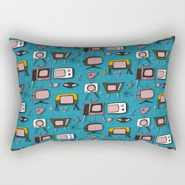Retro Tv Teal #midcentury Rectangular Pillow