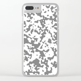 Spots - White and Gray Clear iPhone Case