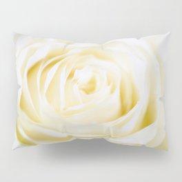 Delicate white rose Pillow Sham