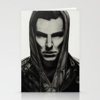 benedict cumberbatch Stationery Cards featuring Benedict Cumberbatch by Charlotte Hussey