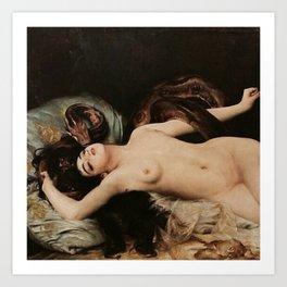 La Serpent (Salammbô), Gabriel Ferrier. Art Print