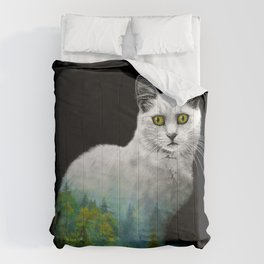 Forest in a cat Comforters