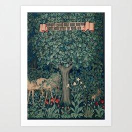 William Morris Greenery Tapestry Pt 3 Art Print