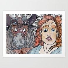 He's a beast. Art Print