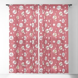 Christmas white dots animals Sheer Curtain