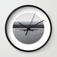 iceland Wall Clocks featuring Iceland by Mara Brioni Art Photography