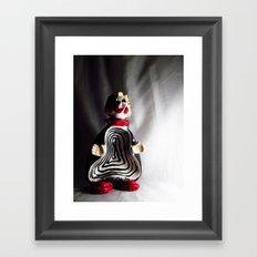 Death Spiral Ashtray Clown Framed Art Print