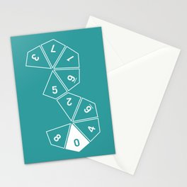 Teal Unrolled D10 Stationery Cards