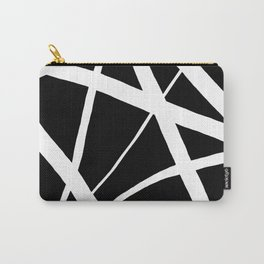 Geometric Line Abstract - Black White Carry-All Pouch