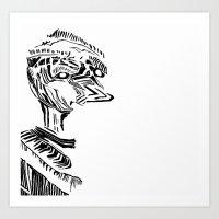 strange duck Art Print