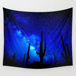 The Milky Way Blue Wall Tapestry