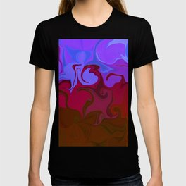 Purple love Abstract T-shirt