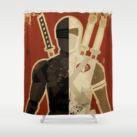 blood Shower Curtains featuring Blood Brothers by Danny Haas