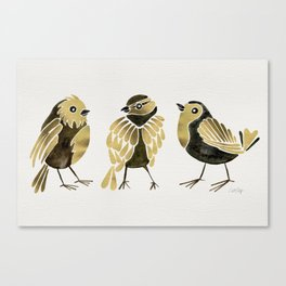 24-Karat Goldfinches Canvas Print