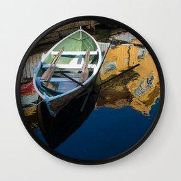 Scandinavian Row Boat Wall Clock