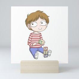 Blocks boy dunks on you Mini Art Print