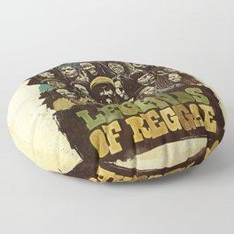 Legends of Reggae Poster Floor Pillow