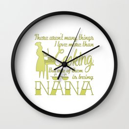 Cooking Nana Wall Clock